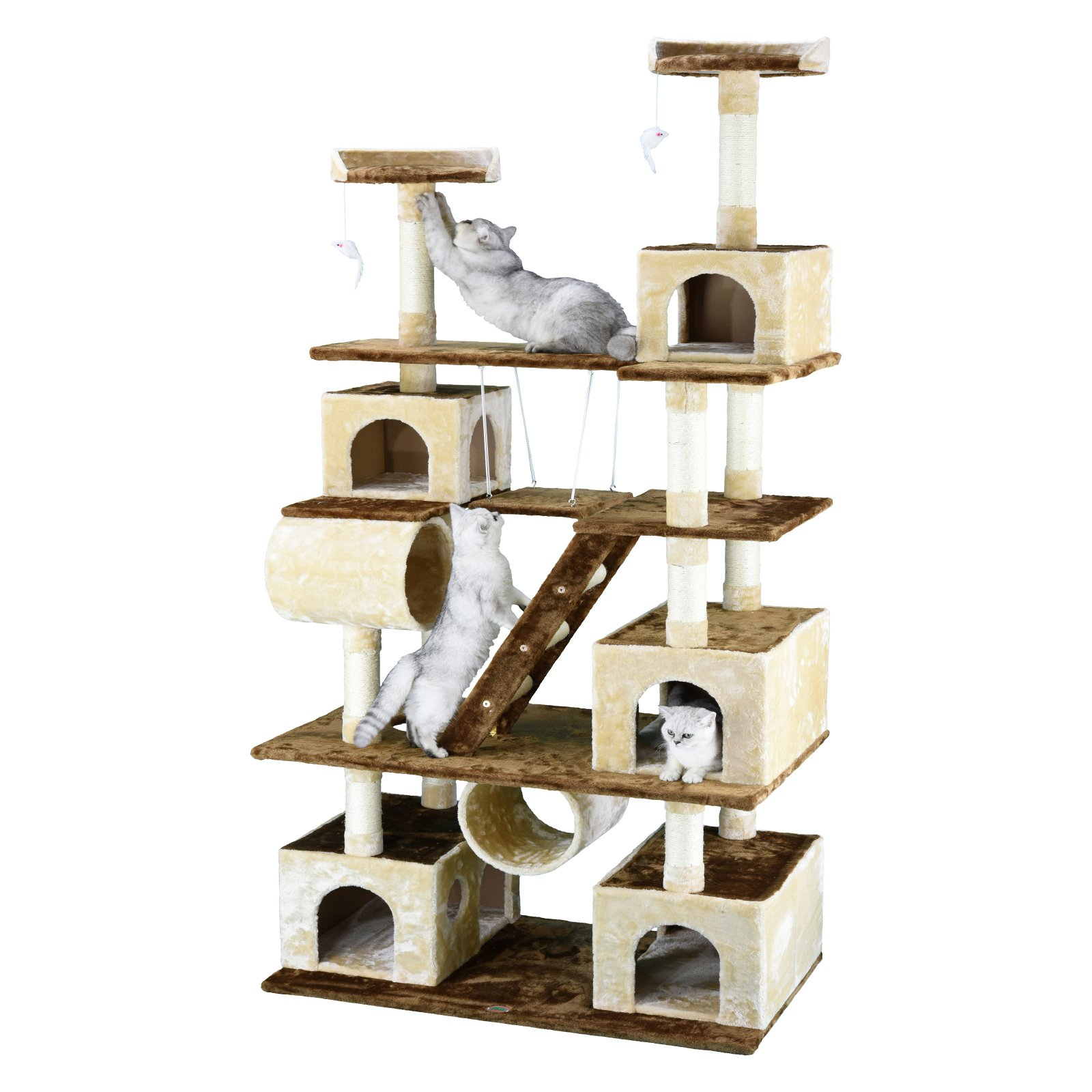 Go Pet Club Huge 87.5 in. Cat Tree Condo House Furniture