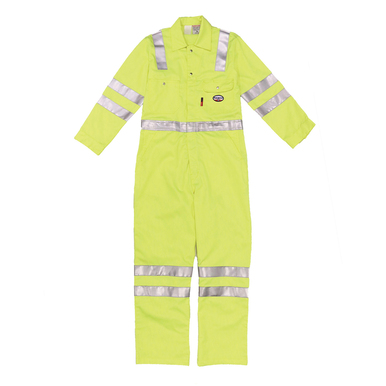 Rasco FR Hi Vis Lightweight Coverall with Reflective Stri...