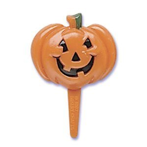 Oasis Supply - 24 Halloween Cupcake Cake Toppers plus Bonus Free Halloween Tattoos (Pumpkin Face Pick) - Halloween Cupcake Faces