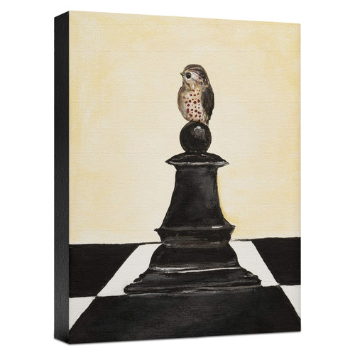 Ashton Wall D cor LLC Birds 'Black Chess' Painting Print on Wrapped Canvas