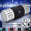 """Aluminum Mini Portable Hifi Stereo Audio 3.0 Wireless Bluetooth Mini Card Speaker TF FM LED Subwoofer MP3 Boombox Sound Box for Smart Phone Computer TV Feature:-100% new and high quality.-C-85B Aluminum Bluetooth speakers.-Built-in Bluetooth wireless, hands free function.-Built-in Bluetooth wireless, hands free function.-U disk storage supports playback of MP3 music player, stored within the TF card MP3 songs.-Supports external 3.5mm audio input terminals of all, FM automatic station search.-Support repeat one, repeat all, random, normal playback.-4 Function keys: MODE(FM/TF CARD/USB/PLAY/PAUSE).-It supports rechargeable built-colorful lights.Specifications:Product name: Bluetooth speakersMaterial: AluminumColor: Black, silver, red, blueSize: Approx. 15X6cm/5.9""""x2.36""""Built-in Li battery: 1200mAhOutput Power: 3Wx2External magnetic speaker: 45MMx2Input Sensitivity: 400mVFrequency: 50Hz-20KHzSNR: ≥88dBOperating Voltage: DC 5VBluetooth Version: 3.0Package Include:1x Bluetooth speaker"""