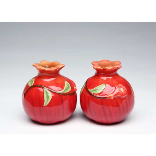 Cosmos Gifts Pomegranate Salt and Pepper Set