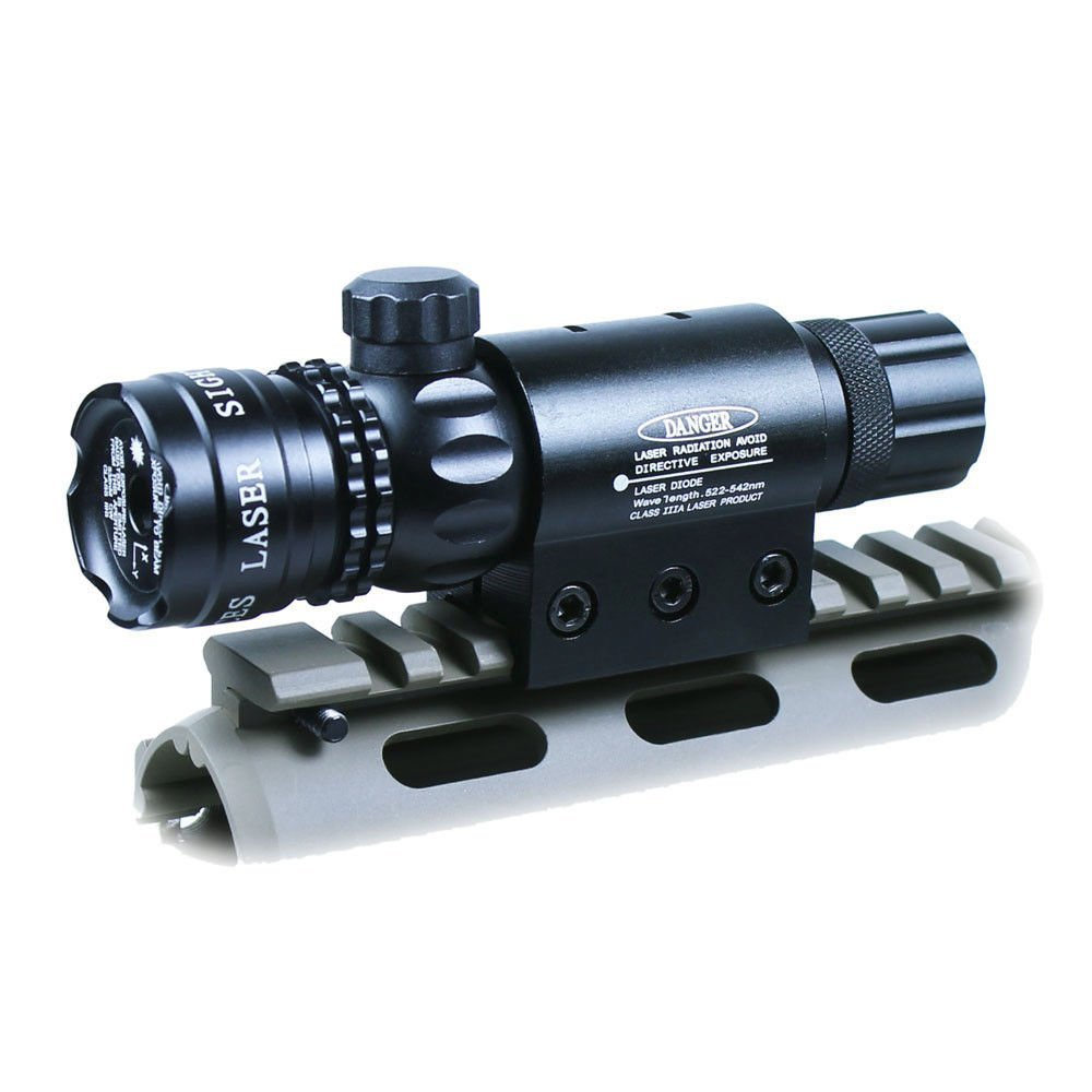 Tactical Hunting Green Laser Sight rifle gun dot scope w  switches rail & barrel mounts box set by Overstock