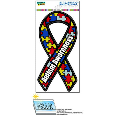 Autism Awareness Support Ribbon Automotive Car Window Locker Bumper Sticker - Autism Stickers