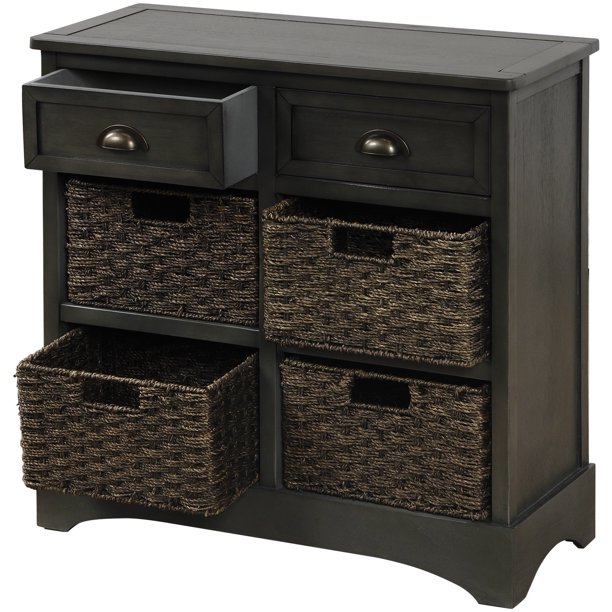 rustic storage cabinet with two drawers and four classic