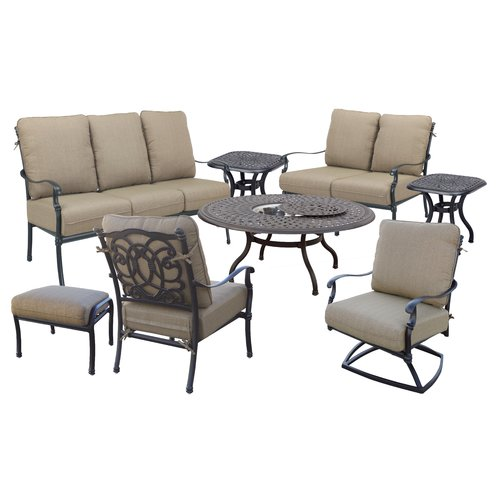 Astoria Grand Dolby 8 Piece Sofa Set with Cushions