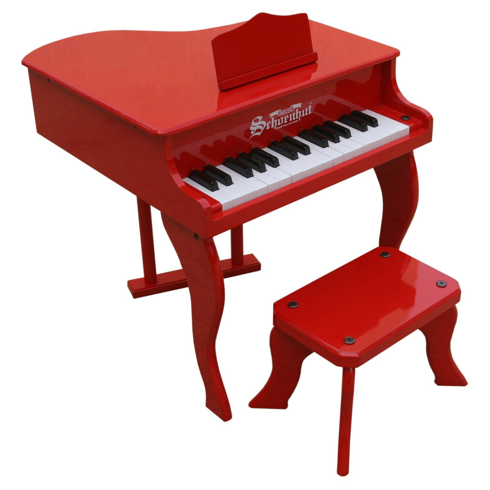 30 Key Fancy Baby Grand Piano - Red