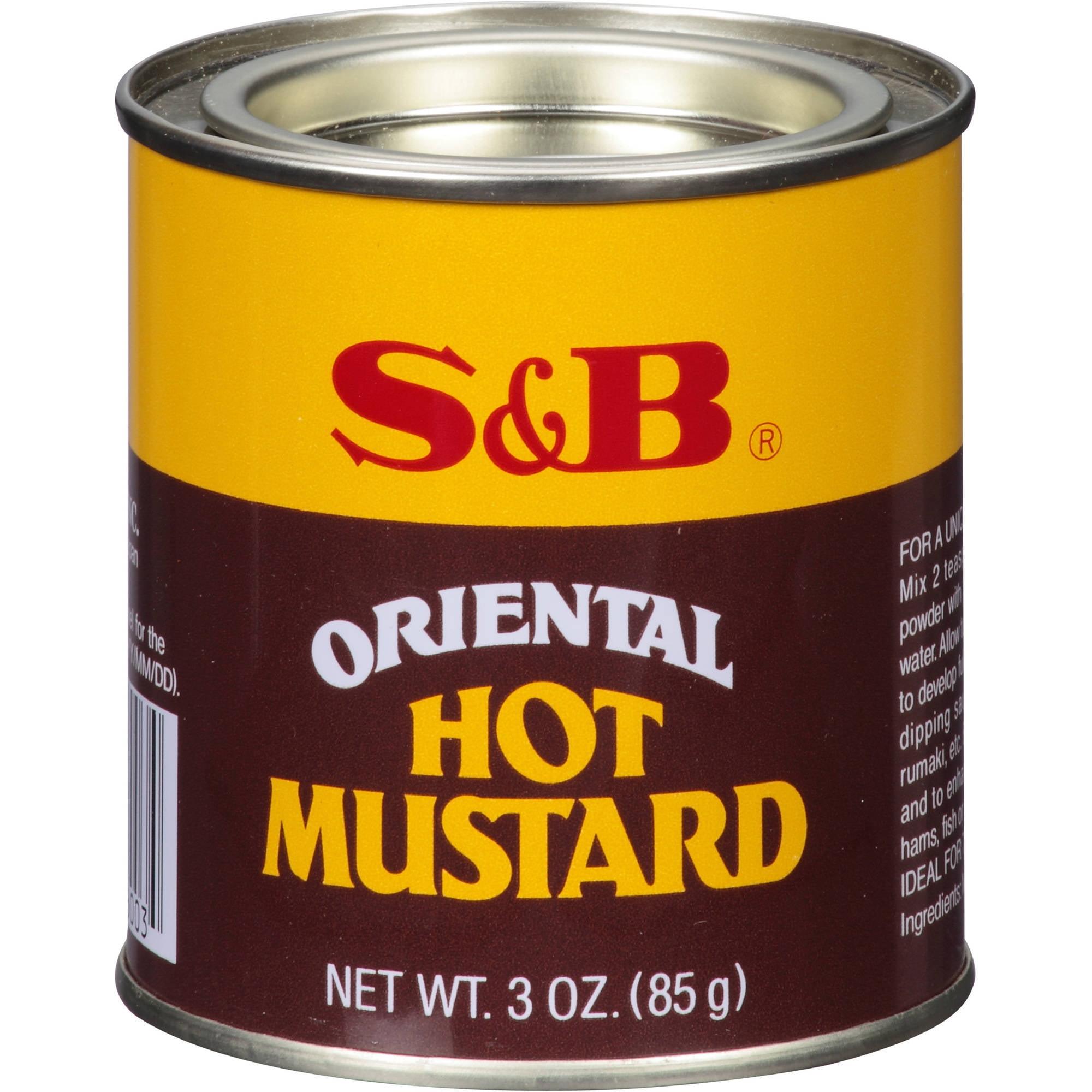 S&B Oriental Hot Mustard, 3 oz, (Pack of 12)