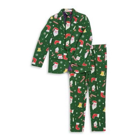 OppoSuits Teen Boys Santaboss Christmas Suit (Boys Morph Suit)