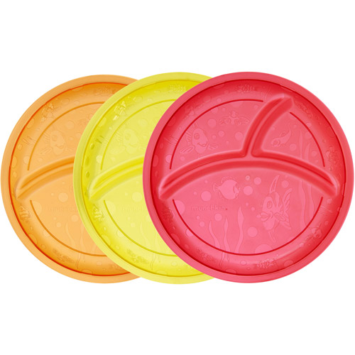 Munchkin Multi Divided Plates, BPA-Free, 3-Pack