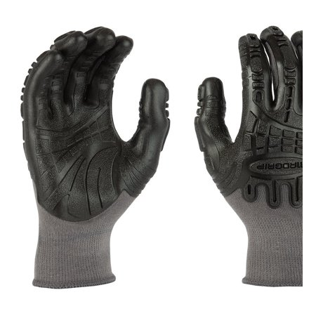 Mad Grip F50 Thunderdome Impact Gloves, Grey/Black, Large