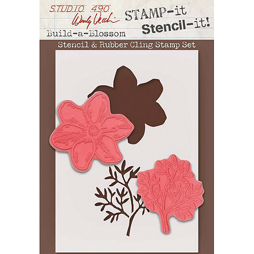 Stampers Anonymous Wendy Vecchi Studio 490 Stamp, Build a Blossom Multi-Colored