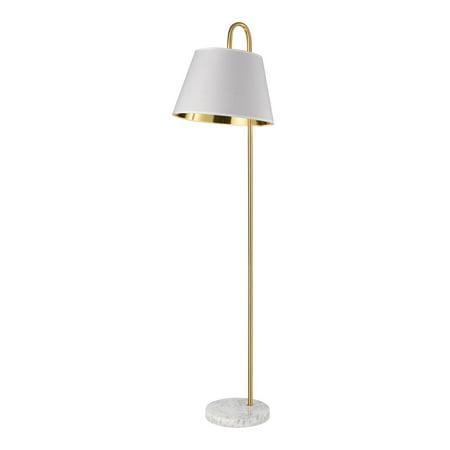 Brass Elk - Elk Vance Floor Lamp In Aged Brass And White D4066