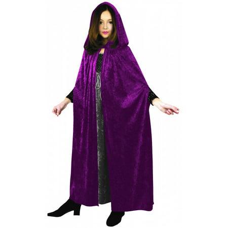 Panne Velvet Cloak Child Costume Fuchsia - Brown Cloak