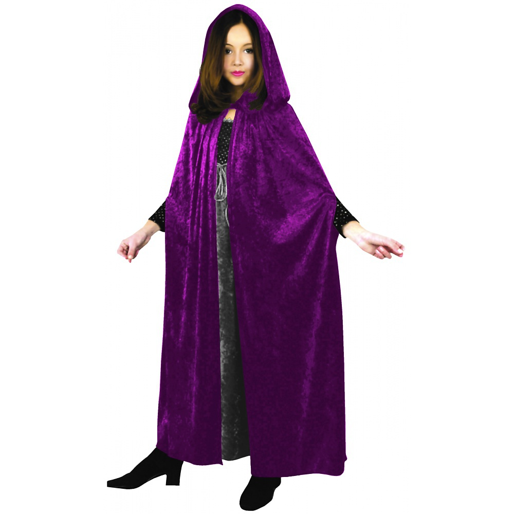 Panne Velvet Cloak Child Costume Fuchsia