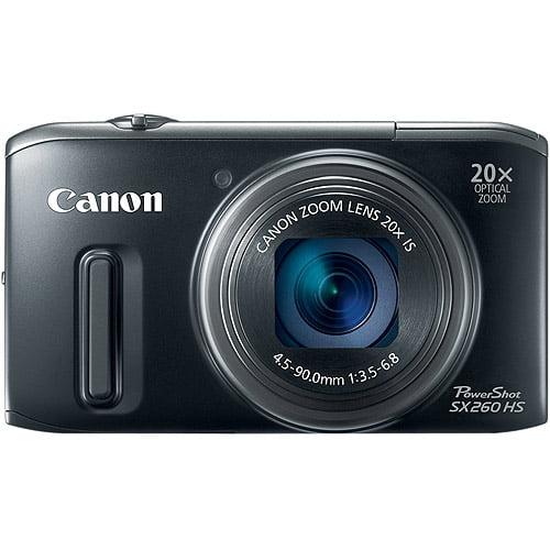 "Canon PowerShot SX260 HS Black 12.1MP 20x Ultra Zoom Digital Camera, 3.0"" LCD Display, Optical Image Stabilization"