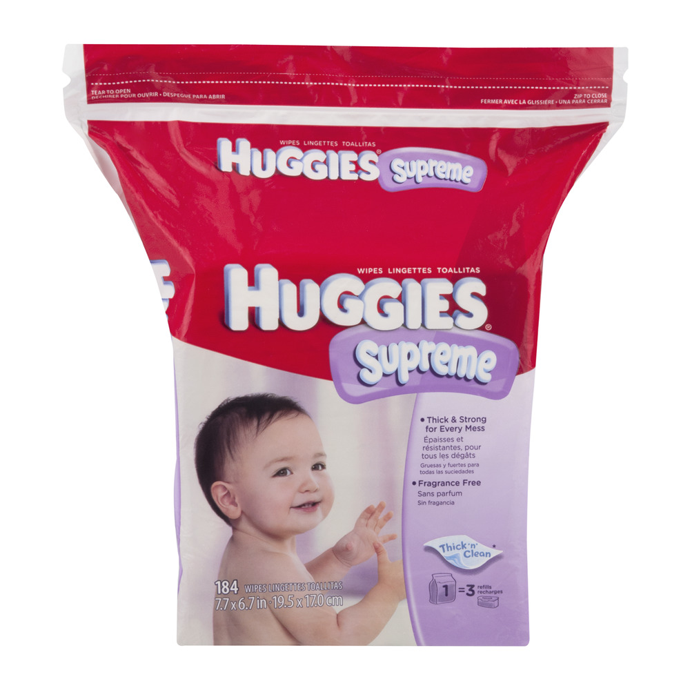 HUGGIES One and Done Thick 'N' Clean Wipes, 184 count
