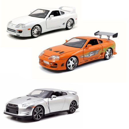 All Fast And Furious Cars >> Brian S Fast Furious Car Set 2 Set Of Three 1 24 Scale Diecast Model Cars
