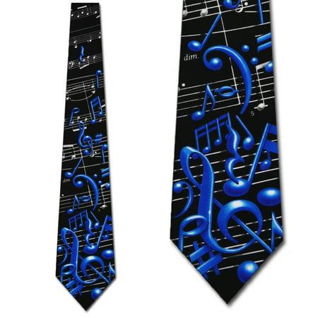 Musical Notes Necktie Mens Tie