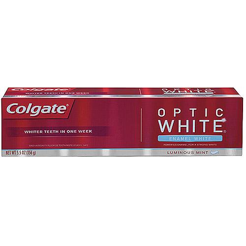 Colgate Optic White Enamel White Luminous Mint Toothpaste, 5.5 oz