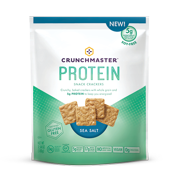 Crunchmaster Protein Sea Salt Cracker, 3.54 OZ (Pack of 12)