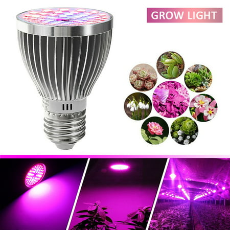 E27 60W 2835SMD LED Grow Light Bulb Growth Growing Lamp Full Spectrum for indoor Plants Garden Greenhouse Hydroponic Aquarium, AC85-265V (60w Led Grow Light)