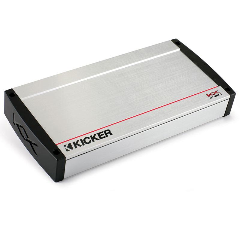 Kicker Car Stereo Kx2400.1 Mono Class D 2400 Watts Amp Bass Speaker Amplifier - Factory Certified Refurbished