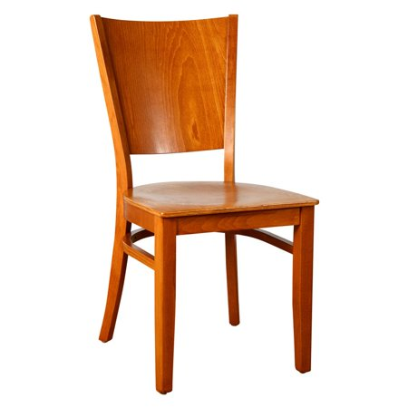 Hendrix Side Chair in Cherry with Wood Seat (Set of 2)
