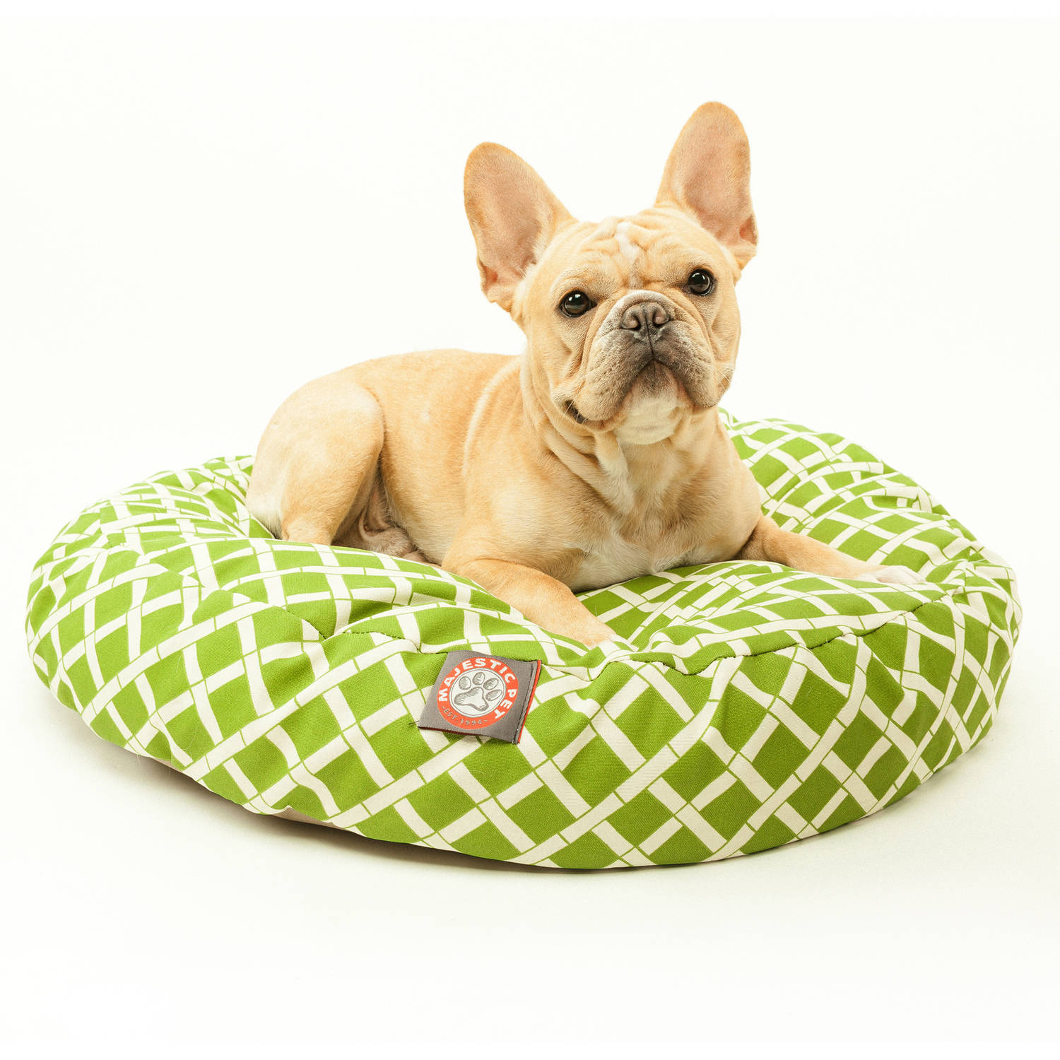 Majestic Pet Products Bamboo Round Outdoor Indoor Pet Bed Removable Cover