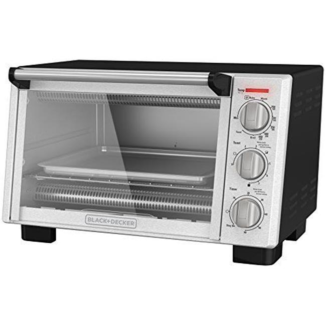 Black Decker Toaster Oven - Silver, Black - Stainless Steel