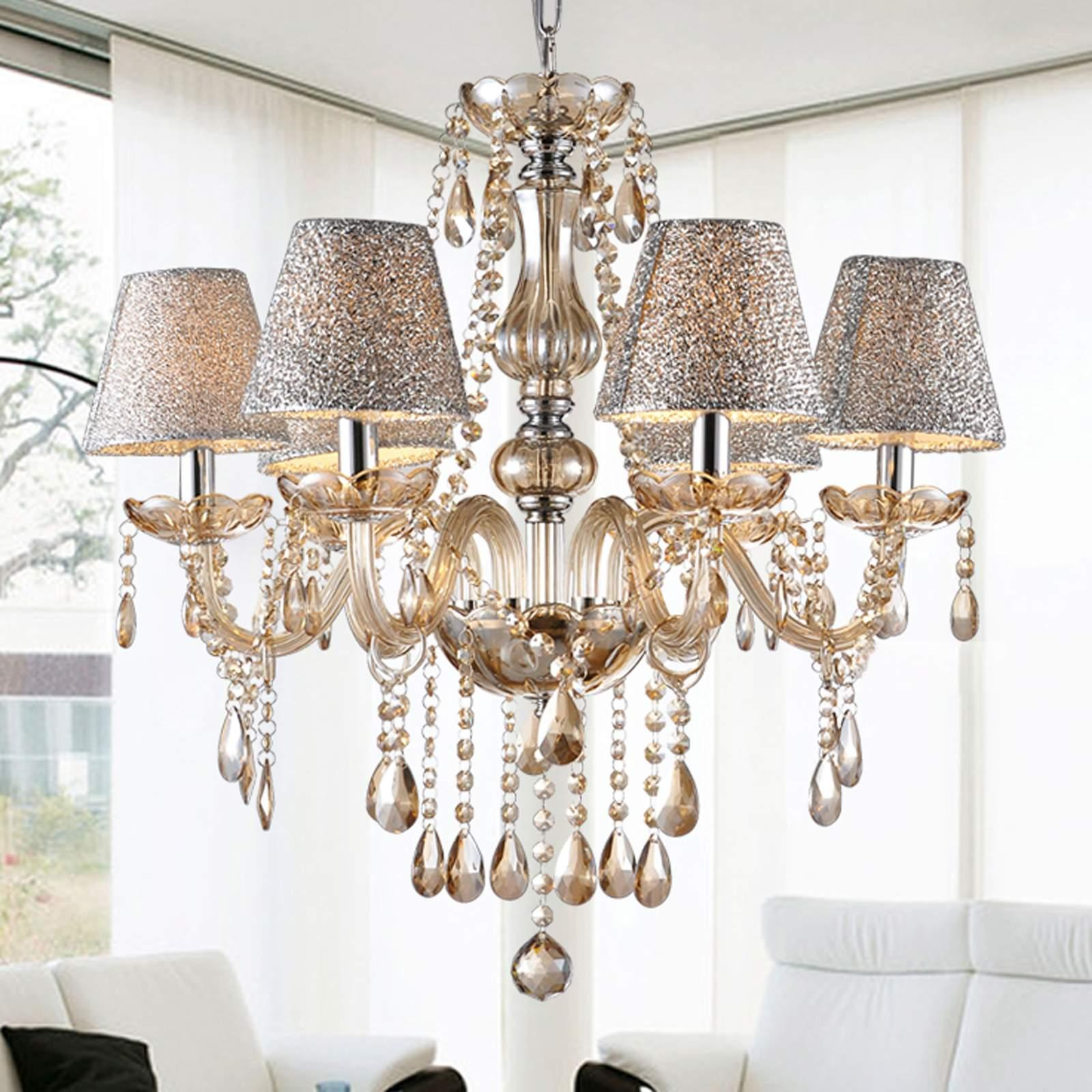 6 Lights Crystal Chandelier Ceiling Chain Lamp For Living Room&Hall WCYE by