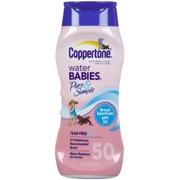 Coppertone Water Babies Pure & Simple Sunscreen Lotion SPF 50 8 oz (Pack of 6)