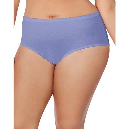 Cotton Tagless Brief - Just My Size Cotton TAGLESS® Brief Panties — 8-Pack - 1610P8