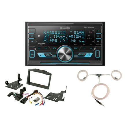 Powersport Audio: Kenwood Digital Media 2-DIN Bluetooth USB AUX AM/FM Stereo Receiver, Scosche Dash Install Kit (Fits 2015-Up Polaris Slingshot), Enrock Marine Flexible AM/FM Antenna