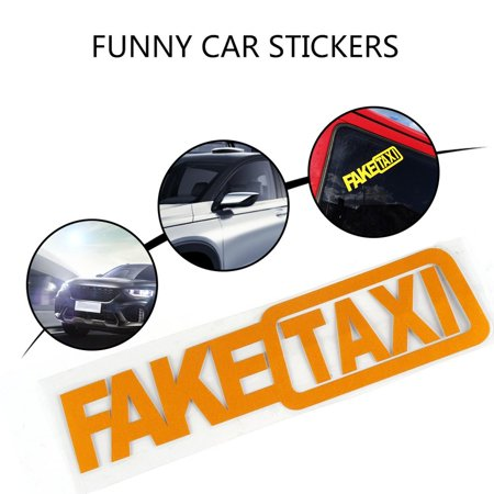 HC-TOP FAKE TAXI Drift Sign Funny Car Attractive Gorgeous Inexpensive Stickers - image 2 of 6
