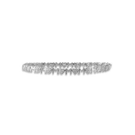 JewelersClub 1/5 Carat T.W. White Diamond Sterling Silver Mother Bracelet (Strand Mothers Birthstone Bracelet)