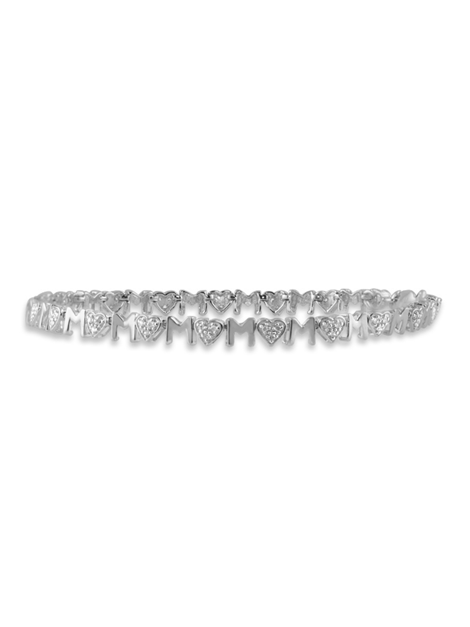 JewelersClub 1/5 Carat T.W. White Diamond Sterling Silver Mother Bracelet