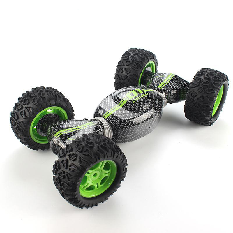 2.4G Remote Control 4WD Double Sided Working Twist Stunt Car - image 2 de 2