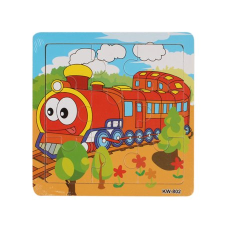 Wooden Train Jigsaw Toys For Kids Education And Learning Puzzles Toys - Jigsaw Puzzles For Kids
