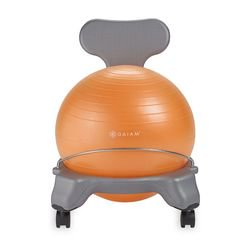 Gaiam Kids Classic Balance Ball Chair - Gray/Orange