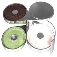 Chrome Look Glass Rimmer   Margarita Salter with 3 Compartments by Glass Rimmers