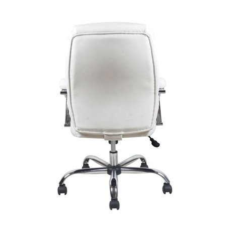 Scranton & Co Ergonomic High Back Leather Office Chair in White - image 1 of 5