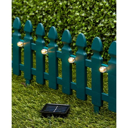 6-Ft. Solar Border Fence Panel - - Border Green Scalloped