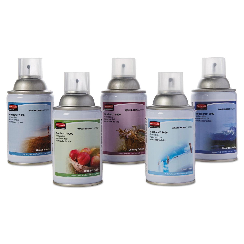 TC Microburst 9000 Air Freshener Refill, Variety Pack, 5.25 oz, 5/CT