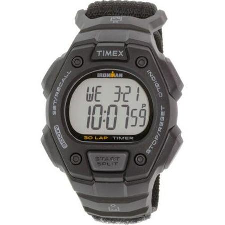 Timex Men's Ironman Classic 30 Black Watch, Fast Wrap Velcro