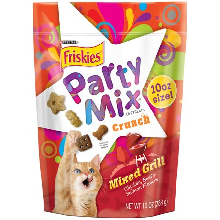 Purina Friskies Party Mix Crunch Mixed Grill Cat Treats 10 oz. Pouch ...