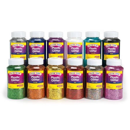 - Colorations Extra-Safe Plastic Glitter, 1 lb. - Set of All 12 (Item # GLSET)