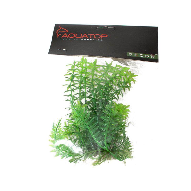 Aquatop Anacharis Aquarium Plant - Green 6 High w/ Weighted Base - Pack of 10