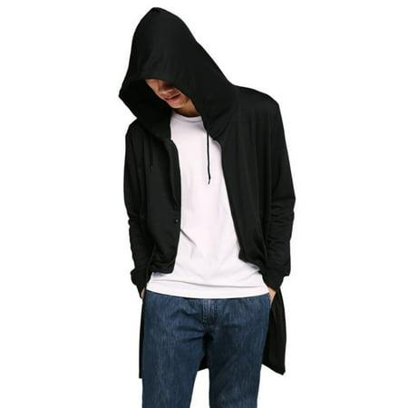 Autumn Men Casual Zipper Hooded Cloak Coat ()