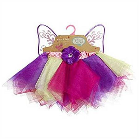 3D Character Creator Whimsy & Wonder Rainbow Tutu & Pink Wings Dress up Set Play
